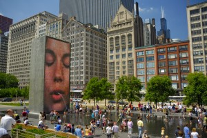 Crown Fountain in Millennium Park