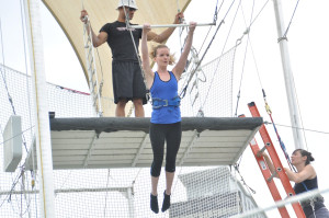 Hilary on trapeze